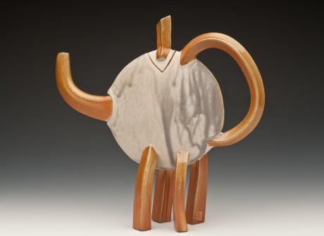 Ivory Ash Teapot